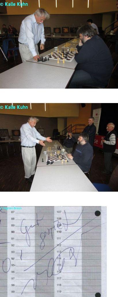 Mein Sieg gegen Vlastimil Hort beim Simultan des FSK Lohfelden 1