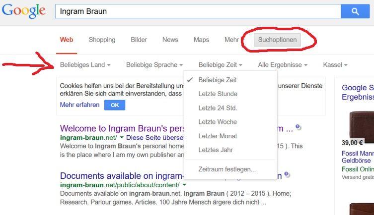 Verfeinerung von Suchen mit Google 1