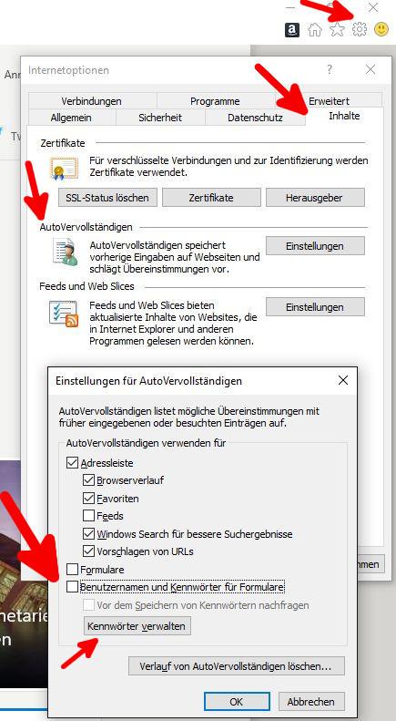 Deaktivieren der Paßwortspeicherung in verschiedenen Browsern 4