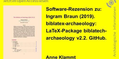 """Rezension von biblatex-archaeology [v2.2] in den """"Archäologischen Informationen"""" 3"""