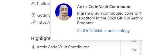 biblatex-archaeology [v2.2] selected for long-term archival in the GitHub Arctic Code Vault 3