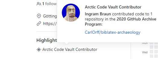 biblatex-archaeology [v2.2] selected for long-term archival in the GitHub Arctic Code Vault 2