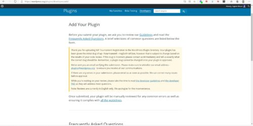 My first WordPress plugin uploaded for review 1