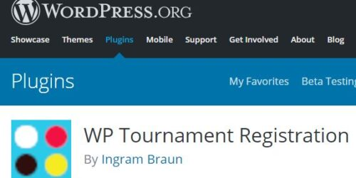 WP Tournament Registration finally released 5